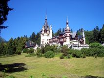 Peles Castle. Summer residence of Romanian royalty, stock photo