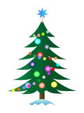 Pele-árvore do Natal Imagens de Stock