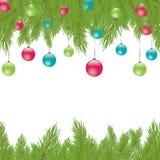 Pele-árvore do Natal. Ilustração do vetor Imagens de Stock Royalty Free