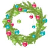 Pele-árvore do Natal. Ilustração do vetor Fotografia de Stock Royalty Free