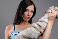 Pele bonita nova da menina e de raposa Imagem de Stock Royalty Free