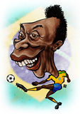 Pele. Caricature of the brazilian football legend - Edison Arantes do Nascimento better known as Pel Stock Photo