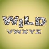 Pele da zebra da imitação do alfabeto Foto de Stock