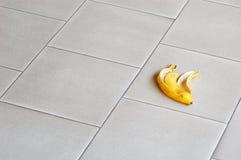 Pele de banana Fotografia de Stock