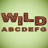 Pele do leopardo da imitação do alfabeto Foto de Stock