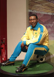 Pele. (Edson Arantes do Nascimento) wax statue at Madame Tussauds in London stock image