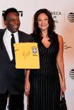Pele et Marcia Aoki Images stock