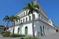 Pele Museum, installed in the old mansion of Valongo in Santos Stock Photos