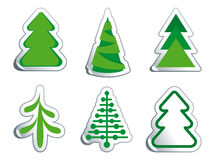 Pele-árvores do Natal Imagem de Stock
