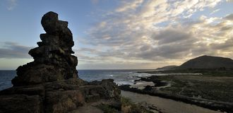 Pele's chair. On Oahu, Hawaii USA Stock Image
