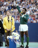 Pele's last game for the New York Cosmos Stock Photos
