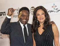 Pele and Wife Marcia Aoki Stock Photography