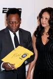 Pele y Marcia Aoki Foto de archivo libre de regalías