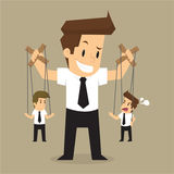 Pelea del control de autoridad del hombre de negocios ilustración del vector