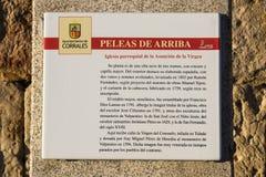 Peleas de Arriba, Ισπανία Στοκ εικόνες με δικαίωμα ελεύθερης χρήσης