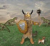 Peleas de gatos con los dragones imagenes de archivo