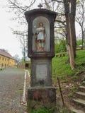 Pelerin Hill - Maria Radna Franciscan Monastery - Lipova, Arad, Romania. Pelerin Hill - St. Mary`s Radna Monastery - Lipova, Arad, Romania. Before arriving at Stock Photography