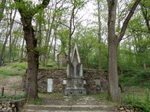 Pelerin Hill -  St. Paul. Anton de Padua and Sf. Elisabeth of Thuringia. Pelerin Hill - St. Mary`s Radna Monastery - Lipova, Arad, Romania. Before arriving at Stock Images