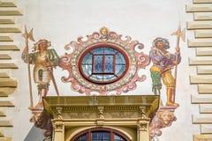 Peles博物馆详细资料 库存图片