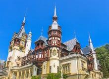 Peles城堡在夏天 免版税库存照片