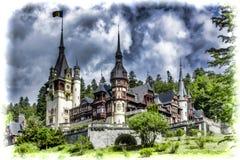 Peles城堡在锡纳亚在罗马尼亚 库存图片