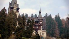 Peles城堡徒升,锡纳亚,罗马尼亚 股票视频