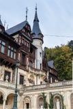 Peles城堡的片段在锡纳亚,在罗马尼亚 图库摄影