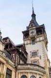 Peles城堡的片段在锡纳亚,在罗马尼亚 免版税库存照片