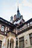 Peles城堡的片段在锡纳亚,在Peles城堡的RomaniaFragment在锡纳亚,在罗马尼亚 免版税库存图片