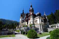Peles城堡,罗马尼亚 免版税库存图片