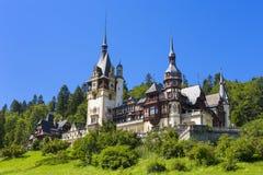 Peles城堡,锡纳亚,罗马尼亚 免版税图库摄影