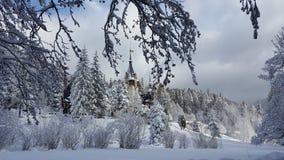 Peles城堡-冬天 库存照片