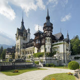 宫殿peles罗马尼亚 库存照片
