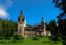 Peles Castle in Sinaia Romania Royalty Free Stock Photography