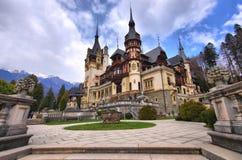 The Peles Castle. A photo of the beautiful Peles Castle in Sinaia, Romania Stock Photos