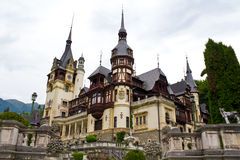 Peles Castle. Wiew from Peles Castle, Sinaia,  kingdom residence in Romania Royalty Free Stock Photo