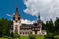 PELES CASTLE IN SINAIA, ROMANIA Stock Image