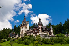 PELES CASTLE IN SINAIA, ROMANIA royalty free stock photo