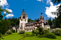 PELES CASTLE IN SINAIA, ROMANIA Stock Photos