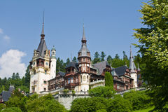 Peles Castle. Built by King Carol  1 ,  located at Sinaia, Romania Royalty Free Stock Photos
