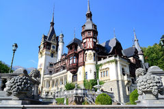 Peles Castle. A Beautiful Place To Visit In Sinaia, Romania - Peles Castle Stock Photography