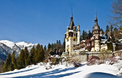 Peles Castle. In Sinaia is a former summer resendinta kings of Romania, now converted into a museum stock photography