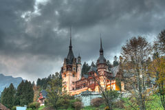 Peles Castle. The Peles Castle, from Sinaia, Romania Stock Images
