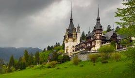 Peles castle  in the Carpathian Mountains, Romania Stock Photography