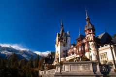 Peles Castle in the Carpathians Mountains, Romania. Royalty Free Stock Photo