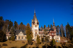 Peles Castle in the Carpathians Mountains, Romania. Royalty Free Stock Images