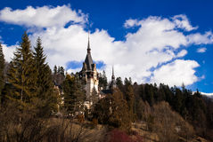 Peles Castle in the Carpathians Mountains, Romania. Stock Photo