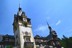Peles Castle central tower Royalty Free Stock Images