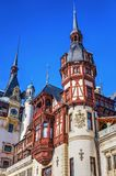 Peles Castle detail of the towers Royalty Free Stock Photos