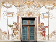 Peles Castle - Exterior wall Details Stock Image